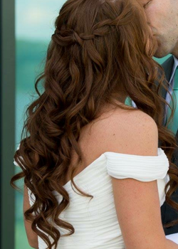 Bride with long hair