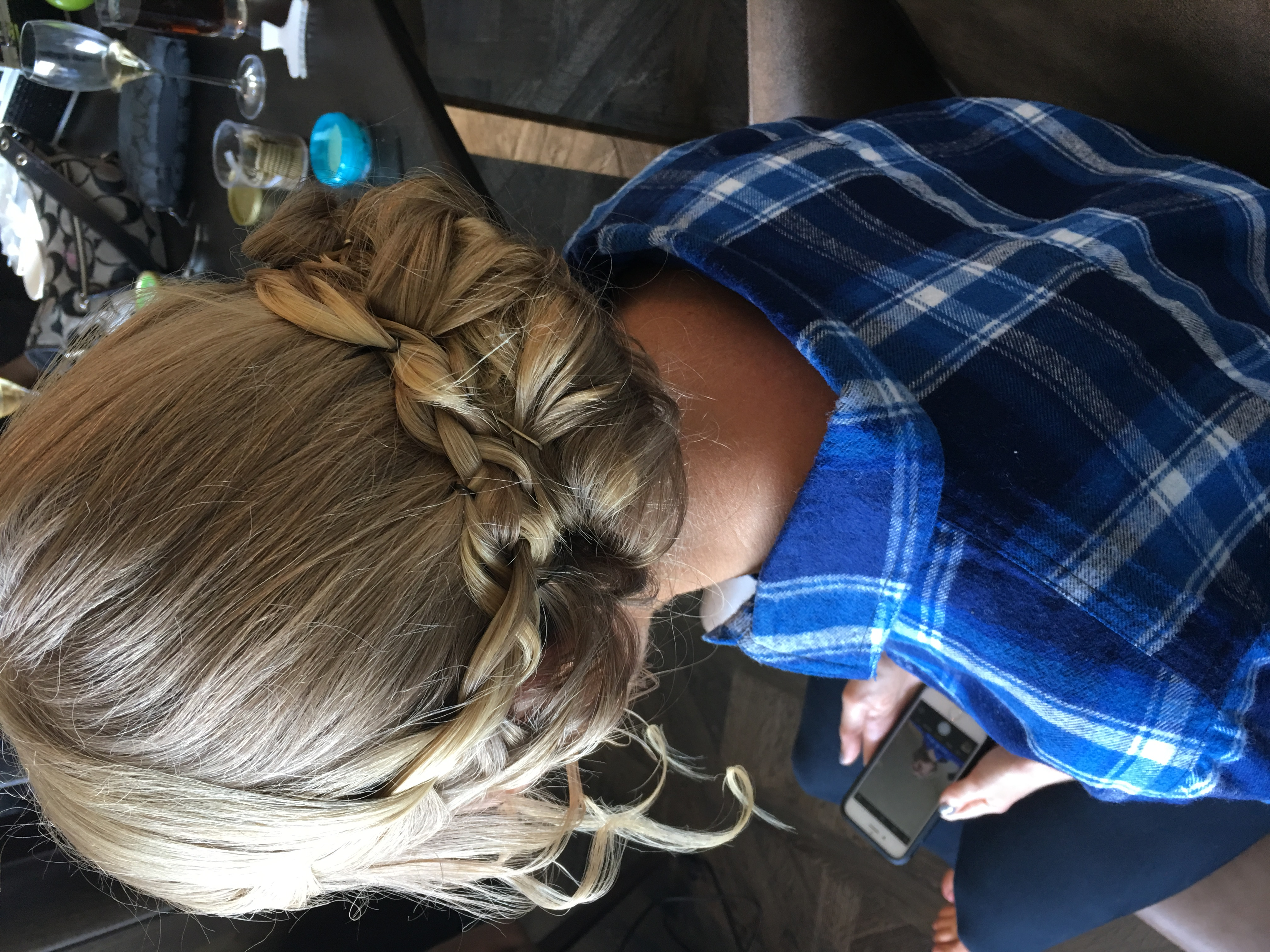 Bride braided up-do