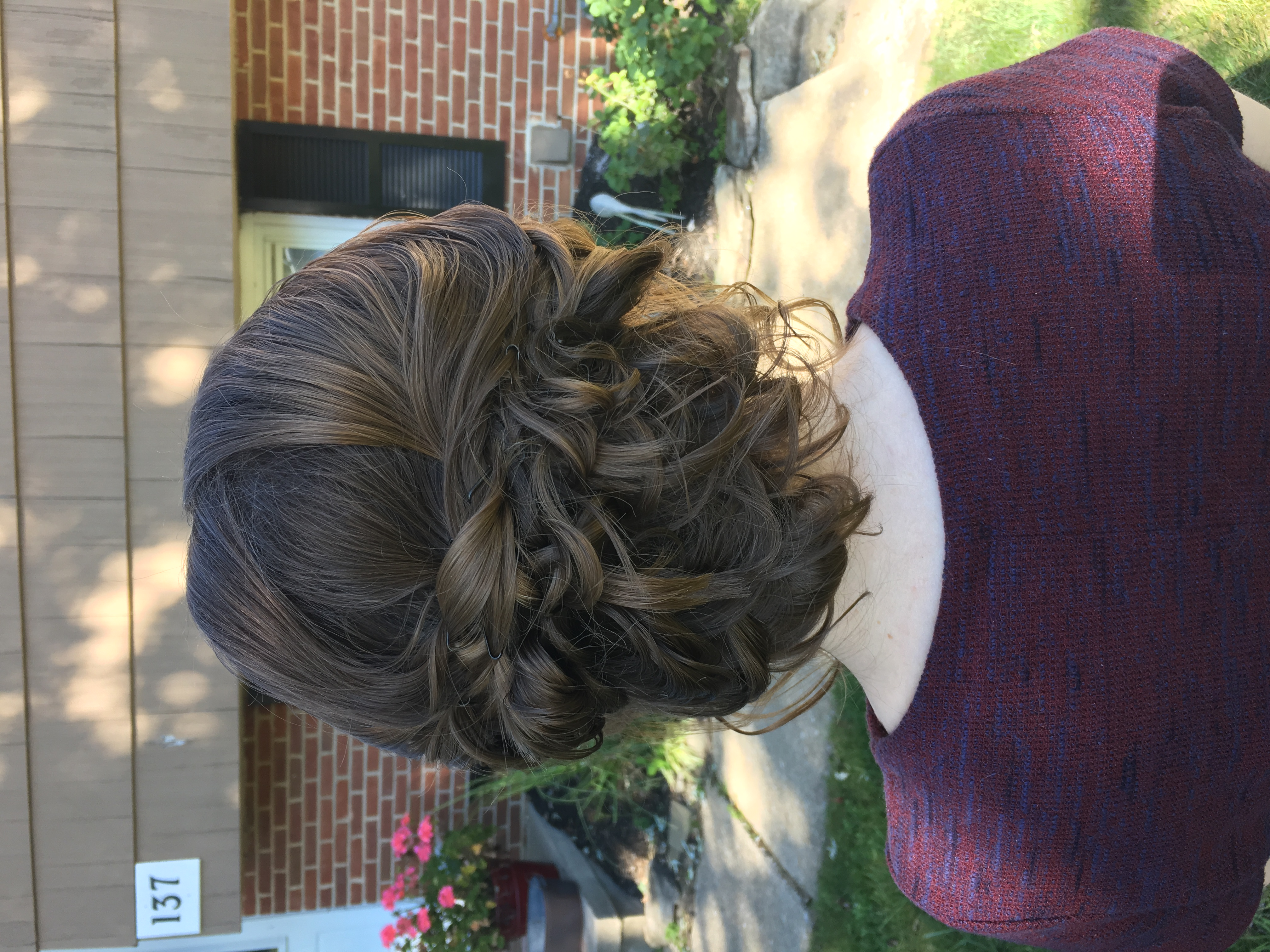 Bridesmaid wedding up-do