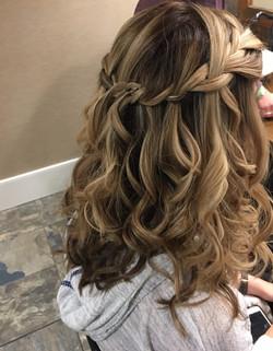 Bride long hair