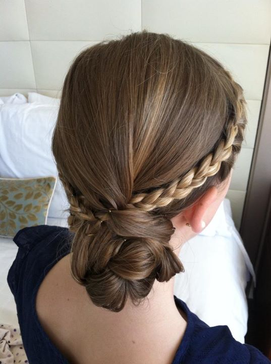 Junior bridesmaid hairstyle