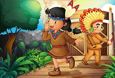 Dessins animés Amérindien