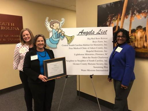 2019 SC Secretary of State Angel Award Recipient