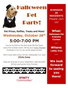 Burnsideº26 Halloween Pet Party Flyer