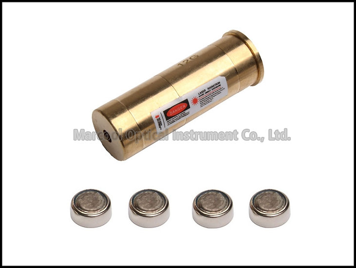 12GA Cartridge Red Laser Bore Sighter