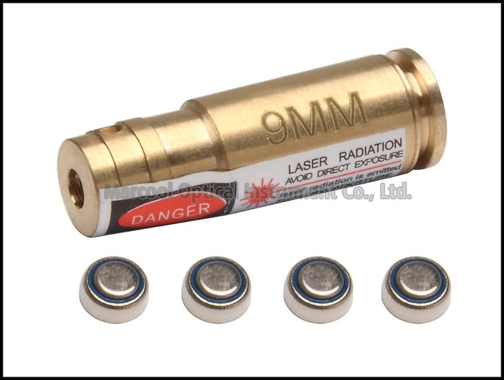 9MM Cartridge Red Laser Bore Sighter