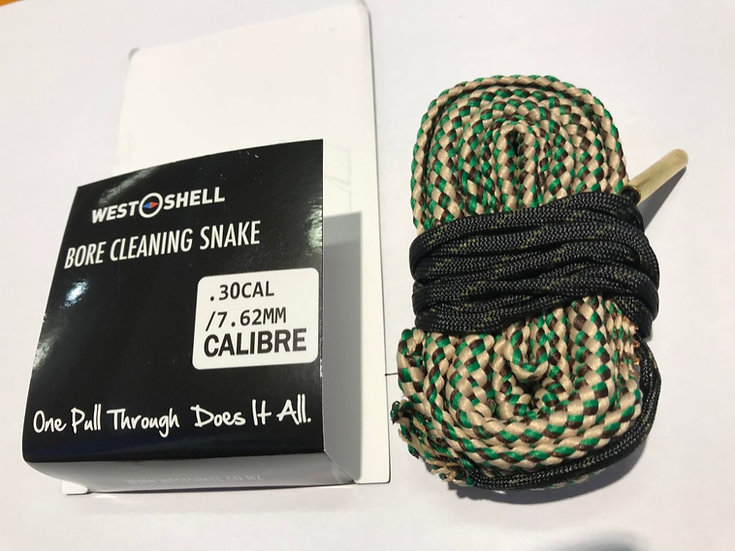 Bore Snake Pull Through with Brass brush .30/7.62mm
