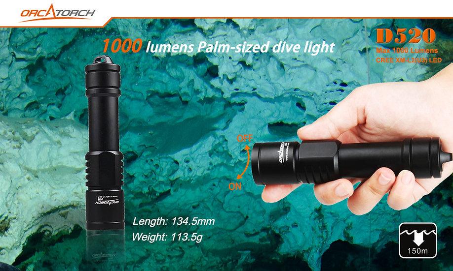 ORCA D520 Dive Torch