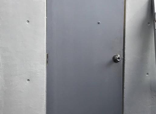 ビルの鉄のドア交換