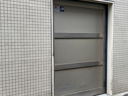 マンション駐輪場の出入り口引戸の改修