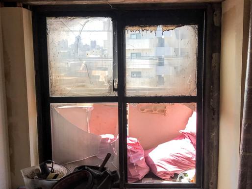 火災で焼けた窓もカバー工法であたらしく