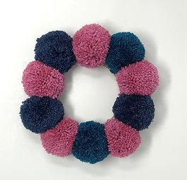Small Pom Pom Wreath