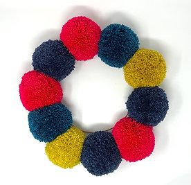 Medium Pom Pom Wreath