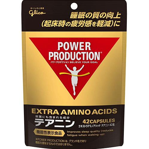 グリコ パワープロダクション エキストラアミノアシッド テアニン パウチ 42粒 【使用目安 約7日分】 亜鉛 サプリメント