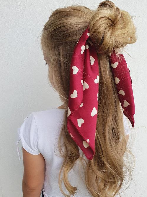 Red Sweetheart Silk Scarf