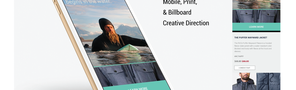 RVCA Campaign work print and digital.