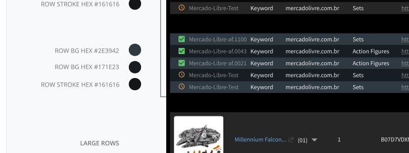 DataTable design work in Figma
