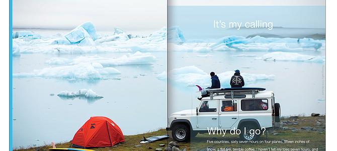 Patagonia Campaign work print and digital.