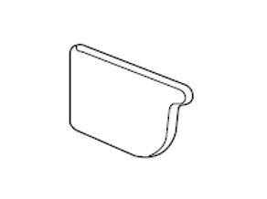 Lysaght® Hi-Front Quad Gutter Stop End (Pair)