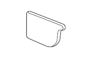 Stopends (Pair) Lysaght® Lo-Front Quad Gutter