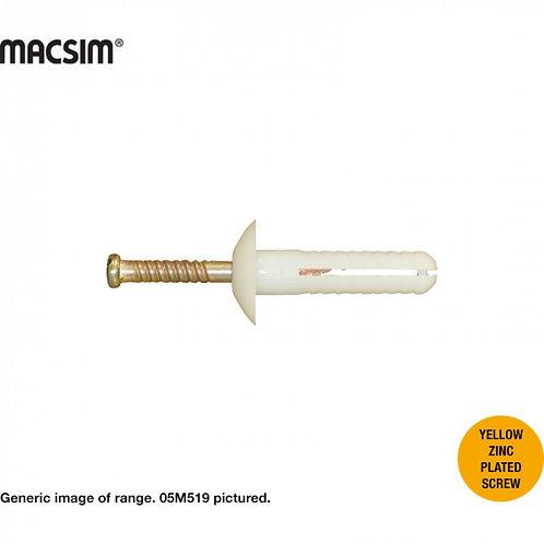Macsim 6.5MM X 25MM M/H NAIL-IN-PLUGS