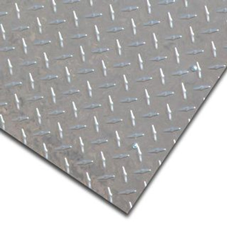 2mm Aluminium Checkerplate (Treadplate) Sheet 1200x2400mm