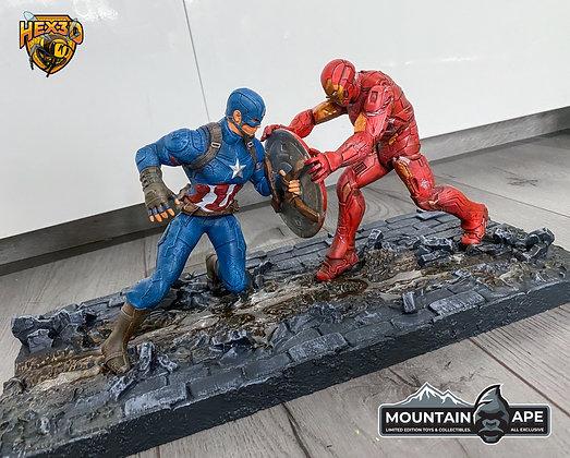 Cap Vs Iron Man Diorama Statue