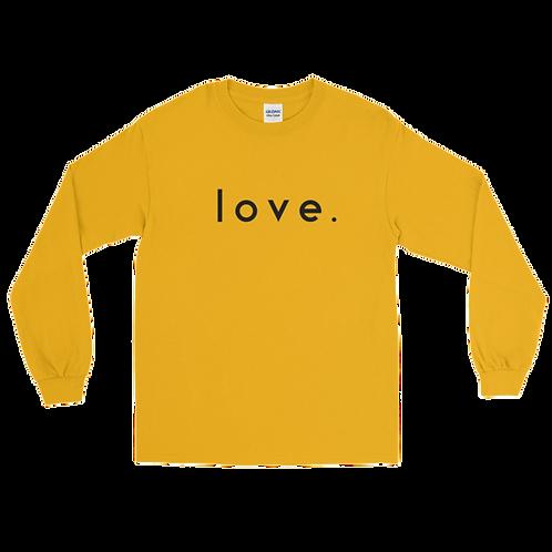 LOVE. long sleeve t-shirt [Yellow]