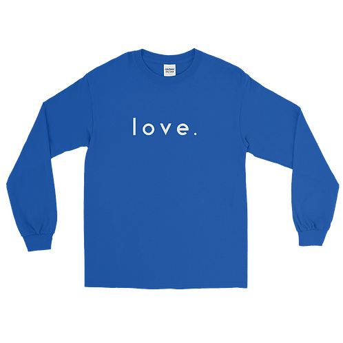 LOVE. long sleeve t-shirt [Royal Blue]