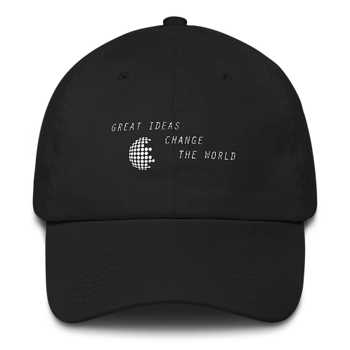 Great Ideas Change The World hats [Black]