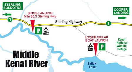 Boatman's Alaska Middle Kenai River Map