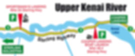 Boatman's Alaska Upper Kenai River Map