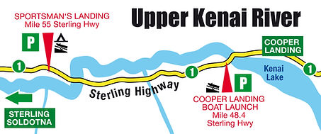 Boatman's Upper Kenai River Boat Launch Map
