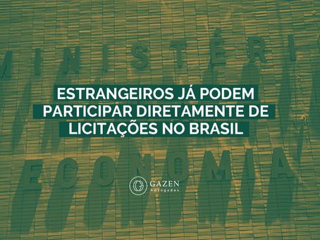 Estrangeiros já podem participar diretamente de licitações no Brasil