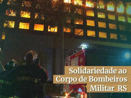 Nota de solidariedade ao Corpo de Bombeiros Militar RS