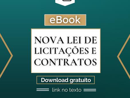 Disponível ebook sobre a Nova Lei de Licitações e Contratos