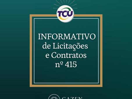 Informativo TCU nº 415