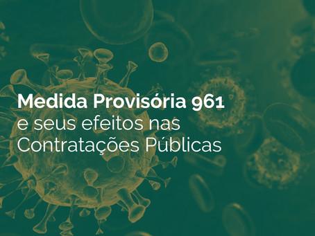 Medida Provisória 961 e seus efeitos nas Contratações Públicas