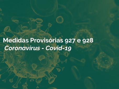 Medidas Provisórias 927 e 928 / Coronavírus - Covid-19