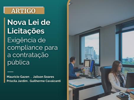 Nova Lei de Licitações: Exigência de compliance para a contratação pública