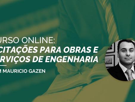 CURSO ONLINE: LICITAÇÕES PARA OBRAS E SERVIÇOS DE ENGENHARIA