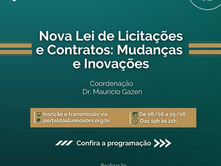 """Curso """"Nova Lei de Licitações e Contratos: Mudança e inovações"""""""