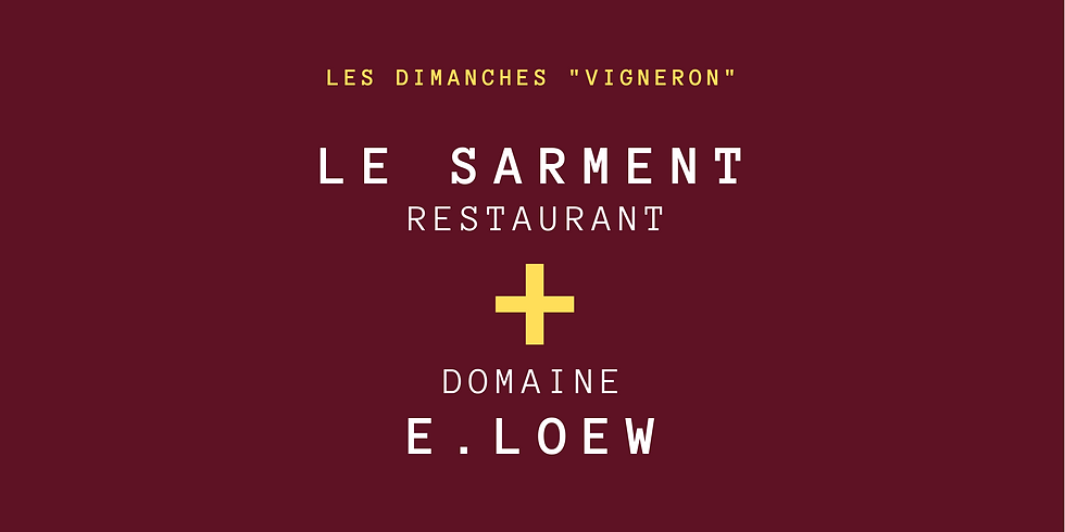 "Menu Vigneron ""E. Loew"""