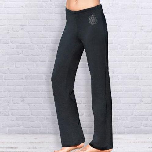 noir pantalon de yoga unisexe