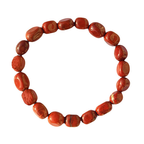Bracelet Jaspe Rouge 10/12mm