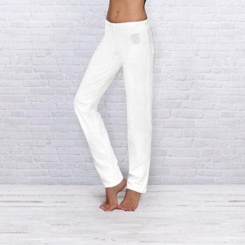 blanc pantalon de yoga unisexe