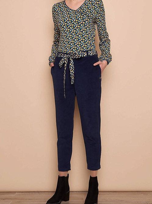 Pantalon Corde MARIT bleu