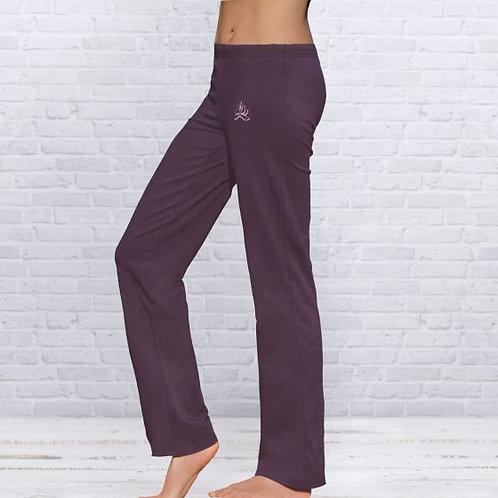 aubergine pantalon de yoga unisexe