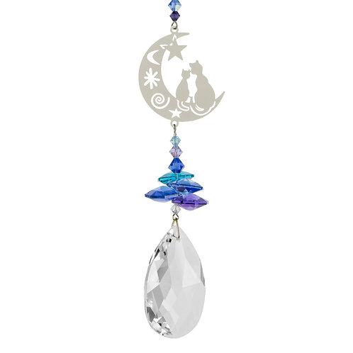 Fantaisie de Cristal Deux Chats sur la Lune