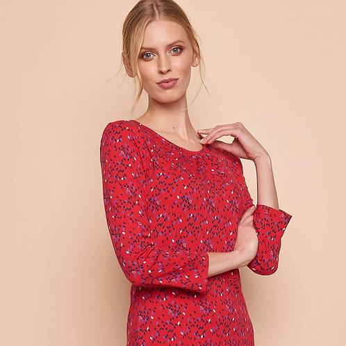 Robe Coton VIGGA rouge